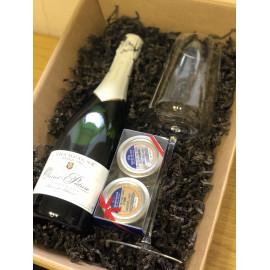 Dárkový balíček - Champagne + sklenice na Champagne