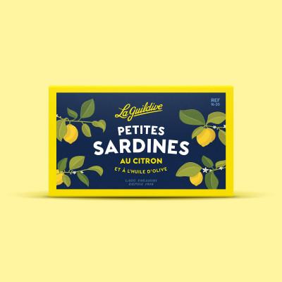 Sardinky s citrónem v organickém olivovém oleji 81g