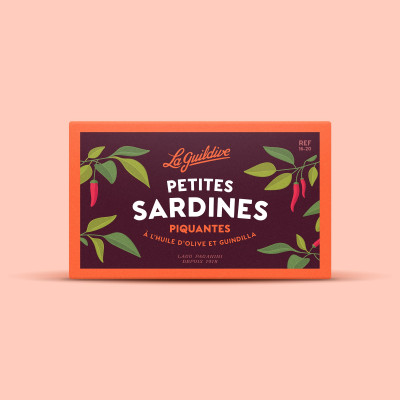 Pikantní sardinky v organickém olivovém oleji 81g
